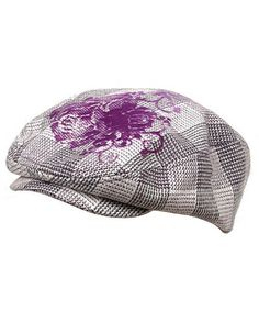 3fc64314 Flower Checkered Ivy Hat-Purple CC111ZIJEAT