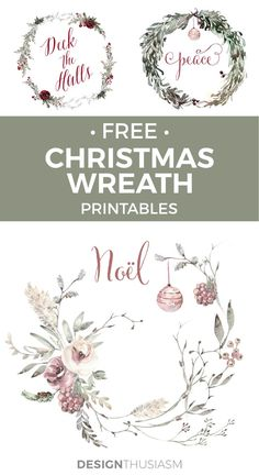 Romantic French Country Christmas Wreath Printables : If you're looking to add a romantic touch to your holiday decor, you'll love these free French Country Christmas wreath printables. Noel Christmas, Christmas Wreaths, Christmas Crafts, Christmas Decorations, Christmas Music, Christmas Nativity, Christmas Movies, Christmas Christmas, Christmas Images Free