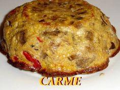Pastel de berenjena asada con pimiento