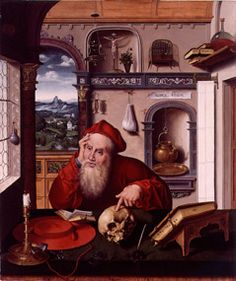 St. Jerome in his Study  Joos Van Cleve, Netherlandish, 16th Century