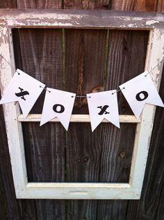 Black and White (xoxo) Wedding Banner