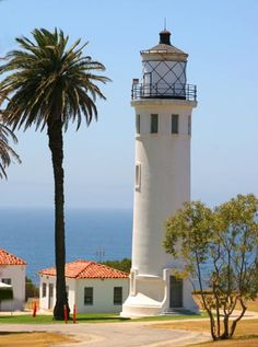 The Point Vicente lighthouse is one of the newest in the state of California, built in 1926 on Los Angeles' Palos Verdes peninsula.  by Betsy Malloy