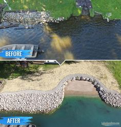 Losing your shoreline to erosion? We build the toughest riprap shorelines on earth. See photos of our work.