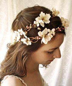 ivory flower wedding headpiece