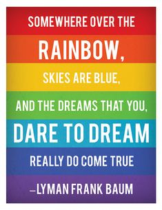 rainbows, words
