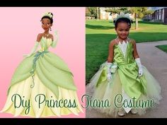 DIY Princess Tiana Costume Part 6 - YouTube