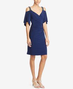 Lauren Ralph Lauren Cutout-Shoulder Jersey Dress | macys.com