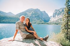 Newly engaged couple sitting on rock in mountains Grand Teton National Park, National Parks, Beautiful Stories, Beautiful Places, Teton Mountains, Whitewater Rafting, Horseback Riding, Engagements, Outfit Ideas