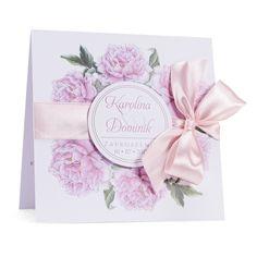 Zaproszenia ślubne z kwiatem Piwonii w3