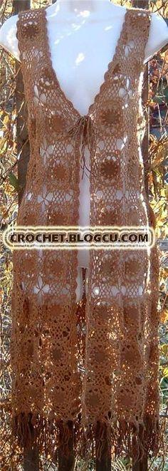 -... ve detayı- crochet waiscoat ÖRGÜ MODELLERİ - crochet - Blogcu.com