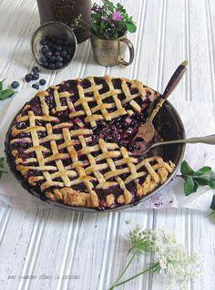 blueberry + garden mint pie