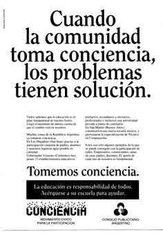 """""""Tomemos Conciencia""""-1992"""