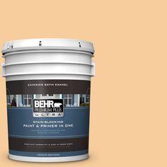 BEHR Premium Plus Ultra 5-gal. #300C-3 Bagel Satin Enamel Exterior Paint