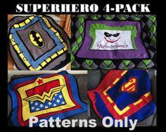 Crochet Joker Superhero 4 pack of patterns