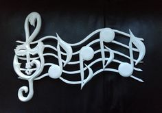 Music Notes wood Staff with notes music Wood sign Carving wall