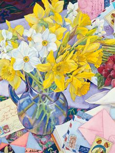 Susan Abbott. April Daffodils