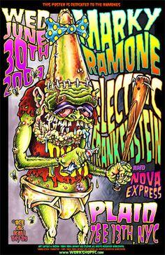Johnny Ace RARE Poster! Ramones MARKY RAMONE Punk EF Pinhead Fink! NYC