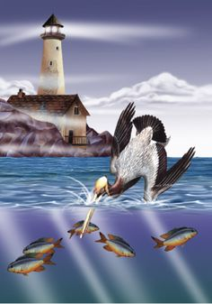 Off Pelican Point by artist Tom Wood, visit our website www.lailas.com to see more of his great images.