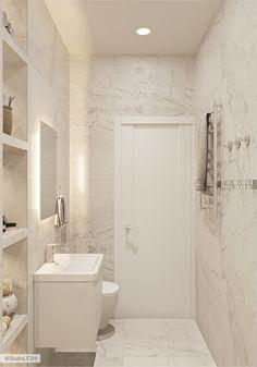 Дизайн проект маленькой квартиры в Москве | Студия LESH Guest Toilet, Cute House, Beautiful Bathrooms, Scandinavian Design, Small Bathroom, Sweet Home, Bathtub, House Design, Interior Design