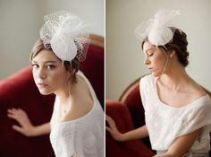 Cappello da sposa con veletta gonfia - Piccoli tocchi romantici per una  ragazza giovane. Fiori c172e6209dd2