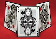 """No.17 """"Le Chat Rouge"""" Custom Playing Cards on Behance"""
