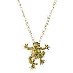 Crystal Frog Necklace <3