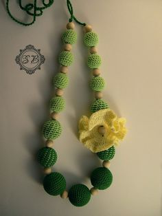Nursing necklace Yellow Flower. Best accessory I've ever seen
