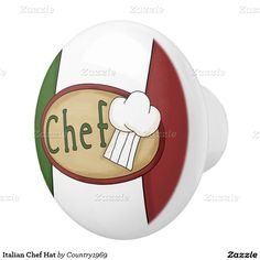 Italian Chef Hat Ceramic Knob