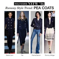 """""""NYFW Runway Trend: Peacoats"""" by polyvore-editorial ❤ liked on Polyvore featuring TIBI, Frame Denim, Derek Lam, women's clothing, women, female, woman, misses and juniors"""