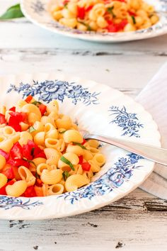 Bruschetta Pasta {only a few ingredients and super quick to put together!}   savorynothings.com