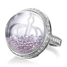 "Pink diamonds. Limited Edition ""Stars of Africa"" pink diamond ring! Dazzling floating-diamonds!"