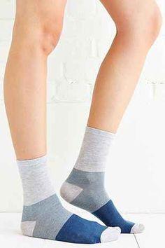 BDG Marled + Stripe Crew Sock Multi-Pack - Urban Outfitters