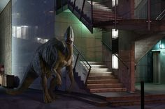 The Wildife: Dinosaurs in the City by Benoit Lapray | Inspiration Grid | Design Inspiration