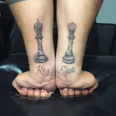 queen and king chess piece tattoos Dream Tattoos, Future Tattoos, Life Tattoos, Tatoos, Couples Hand Tattoos, Couple Tattoos, Tattoos For Guys, Chess Piece Tattoo, Queen Chess Piece