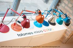The nice and colorful #Tolomeo Micro table lamps. #design Michele De Lucchi & Giancarlo Fassina
