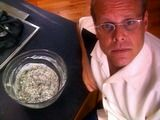 Spinach Artichoke Dip. So yummy! I love Alton Brown