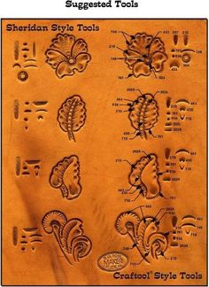 Resultado de imagem para tecniques for hand made briefcase hand tooled leather Leather Stamps, Leather Art, Sewing Leather, Leather Pattern, Custom Leather, Leather Tooling, Leather Design, Handmade Leather, Leather Jewelry