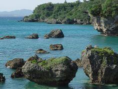 Okinawa ..swimming in a crystal clear natural aquarium (50yrs ago)