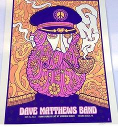Dave Matthews Band Poster: Farm Bureau Live at Virginia Beach, Virginia Beach, VA - 7-26-13