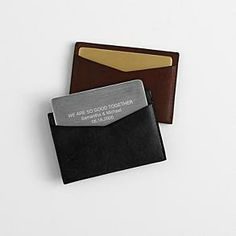 Leather business card holder, maybe with my initials (EJH)