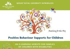 E-Learning Web Site: Positive Behaviour Supports for Children | Autism Society of Edmonton Area...Link through to Positive Behaviour Supports for Children Portal- www.pbsc.info/aide/