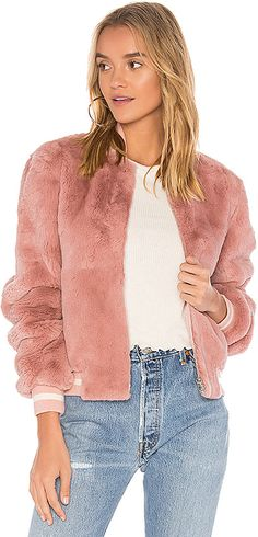 Elizabeth and James Ellington Fur Bomber Jacket. Bomber jacket fashions. I'm an affiliate marketer. When you click on a link or buy from the retailer, I earn a commission.