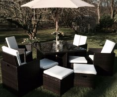 Outdoor Rattan Weave 8 SEAT CUBE SET Garden Patio Furniture Set Conservatory!