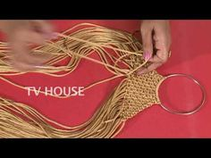 How to make heart shape mirror wall hanging with macrame - YouTube