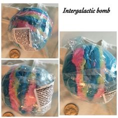 Lush Intergalactic large bomb  New edition bomb by Lush. Note crack in picture which occurred during cooking process , integrity of item not affected Lush Makeup