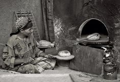 Woman baking bread  Egypt Twitpic.com