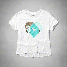 girls logo shine graphic tee