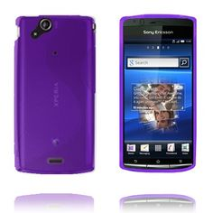 S-Line (Lilla) Sony Ericsson Xperia Arc Cover Galaxy Phone, Samsung Galaxy, Line, Electronics, Cover, Silicone Rubber, Fishing Line, Blankets, Consumer Electronics