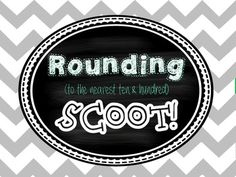 Scoot is a fun whole-group activity that can be used in many different ways. Math Teacher, Teaching Math, Teacher Stuff, Math Skills, Math Lessons, Math Round, Math Place Value, Math Task Cards, Third Grade Math