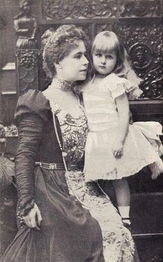 Crown Princess Marie of Romania with her eldest daughter Princess Elizabeth;